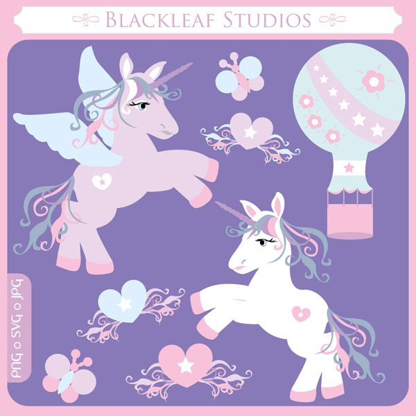 Unicorns SVG Set  Blackleaf Design    Mygrafico