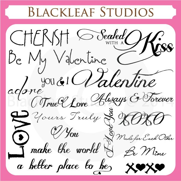 Valentines Day February 14th Sayings and Quotes Word Art Titles  Blackleaf Design    Mygrafico