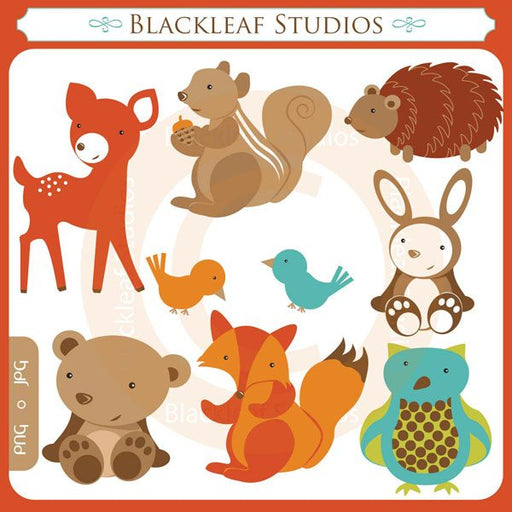 Woodland Forest Friends  Blackleaf Design    Mygrafico