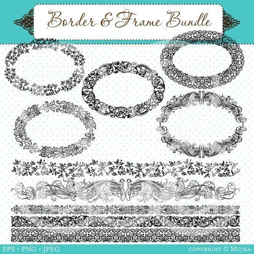 Border & Frame Bundle  Mujka Chic    Mygrafico
