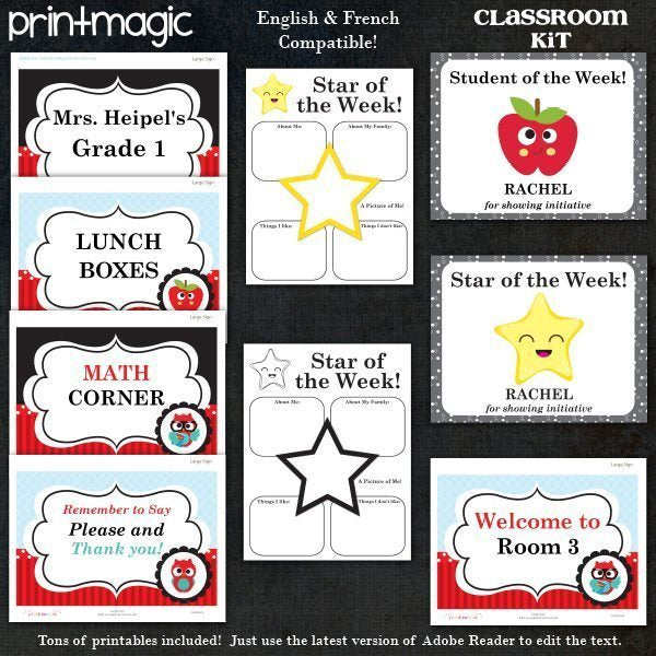 Classroom Printables Kit Printable Templates Print Magic    Mygrafico