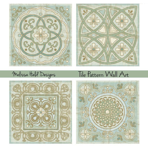 Tile Pattern Wall Art Digital Paper & Backgrounds Melissa Held Designs    Mygrafico