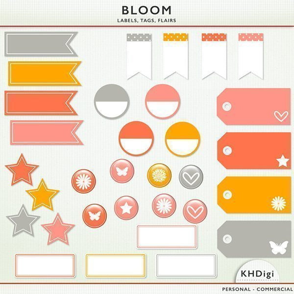 Bloom Labels, Tags, and Flairs  KH Digi    Mygrafico