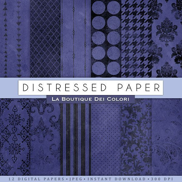 Blue Distressed Digitial Papers  La Boutique Dei Colori    Mygrafico