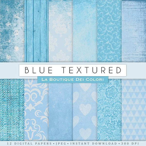 Blue Textured Digital Papers  La Boutique Dei Colori    Mygrafico