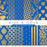 Blue and Gold Digital Papers  La Boutique Dei Colori    Mygrafico
