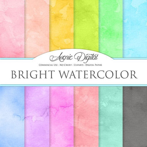 Bright Watercolor Digital Paper  Avenie Digital    Mygrafico