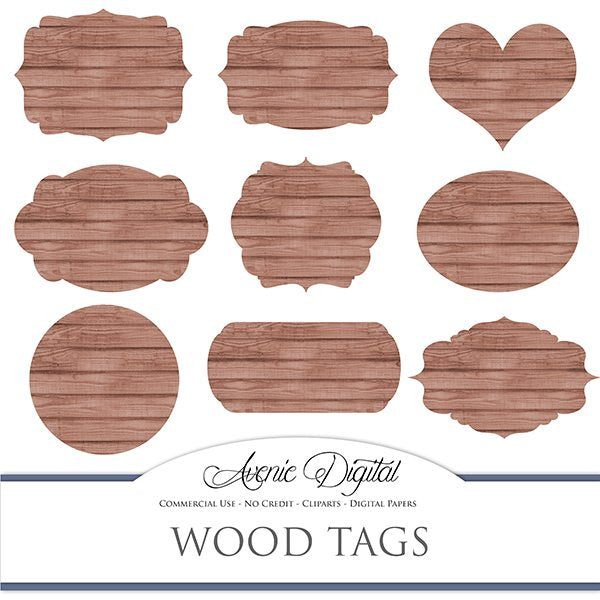 Brown wood tags cliparts  Avenie Digital    Mygrafico
