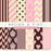 Pink and Brown Digital paper  La Boutique Dei Colori    Mygrafico