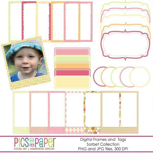 Sorbet Digital Frames  Pics and Paper    Mygrafico