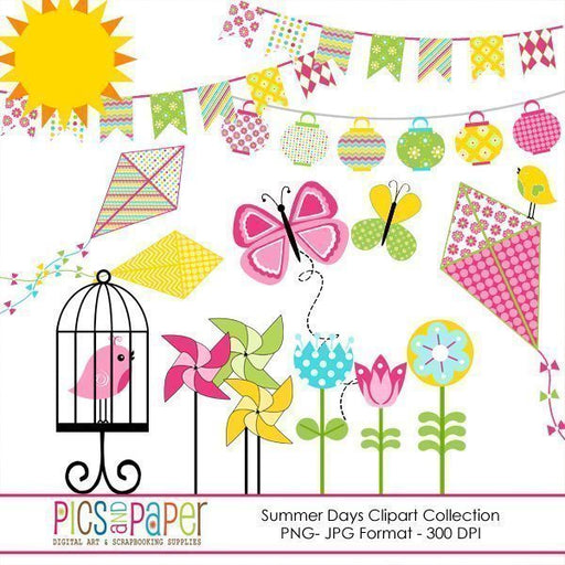 Summer Days Clipart Collection  Pics and Paper    Mygrafico