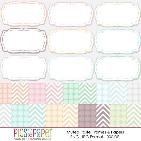 Muted pastel Frames and Papers  Pics and Paper    Mygrafico