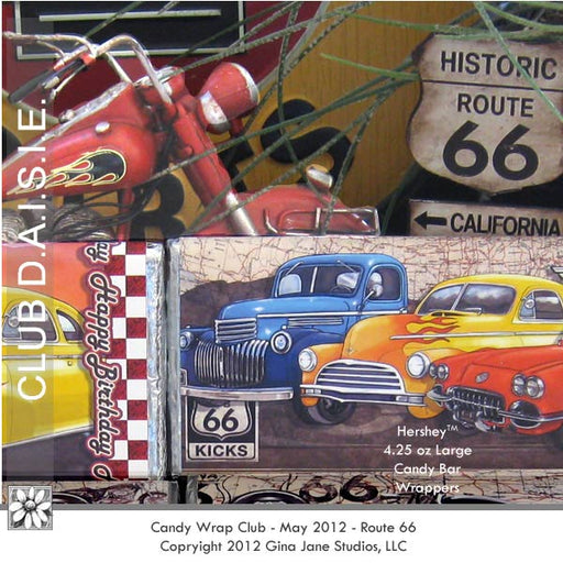 Route 66 Candy Bar Wrappers  Gina Jane    Mygrafico