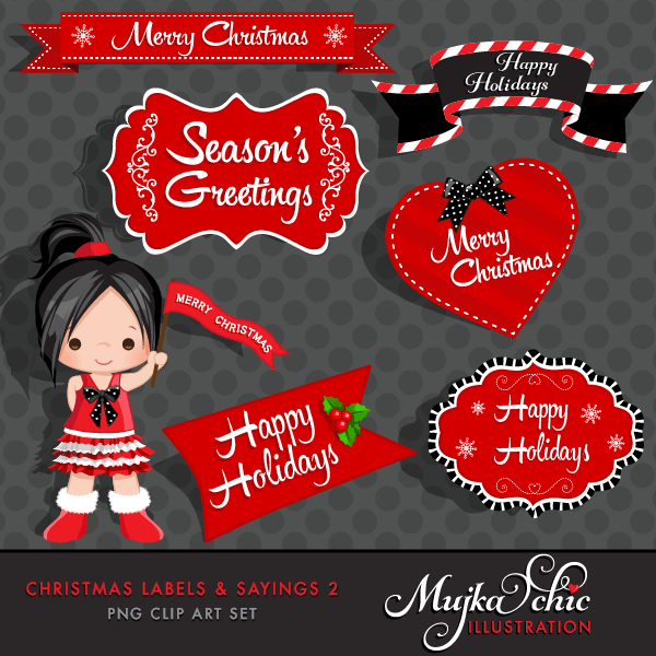 Christmas Frames, Labels & Sayings 2 Graphics, Instant Download Christmas Graphics  Mujka Chic    Mygrafico