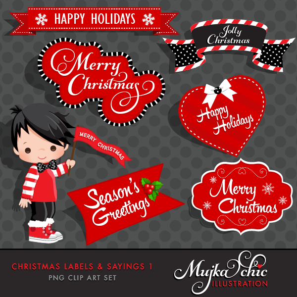 Christmas Frames, Labels & Sayings Graphics, Instant Download Christmas Graphics  Mujka Chic    Mygrafico