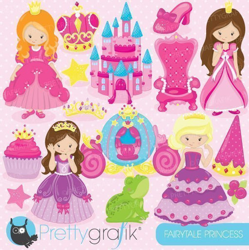 Fairytale princesses clipart