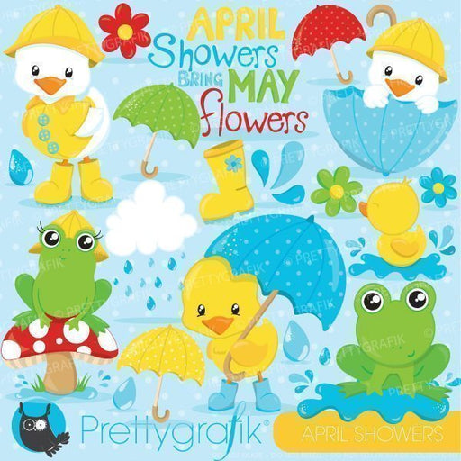 April showers clipart Cliparts Prettygrafik    Mygrafico