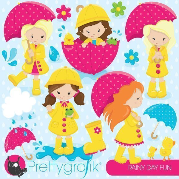 April Shower Girls Clipart  Prettygrafik    Mygrafico