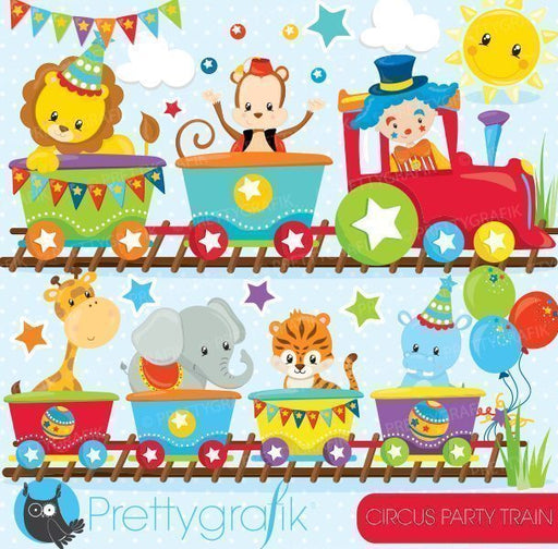 Circus party train Clipart  Prettygrafik    Mygrafico