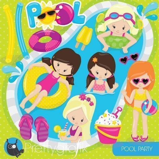 Pool Party girl Clipart Cliparts Prettygrafik    Mygrafico