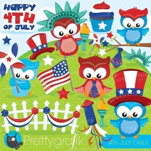 Independence day owls Cliparts  Prettygrafik    Mygrafico