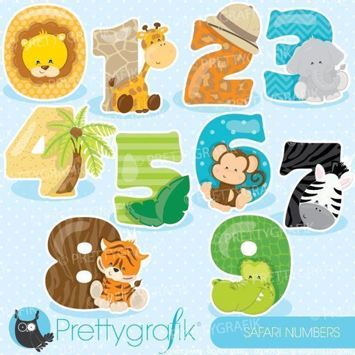 Safari animal numbers clipart  Prettygrafik    Mygrafico