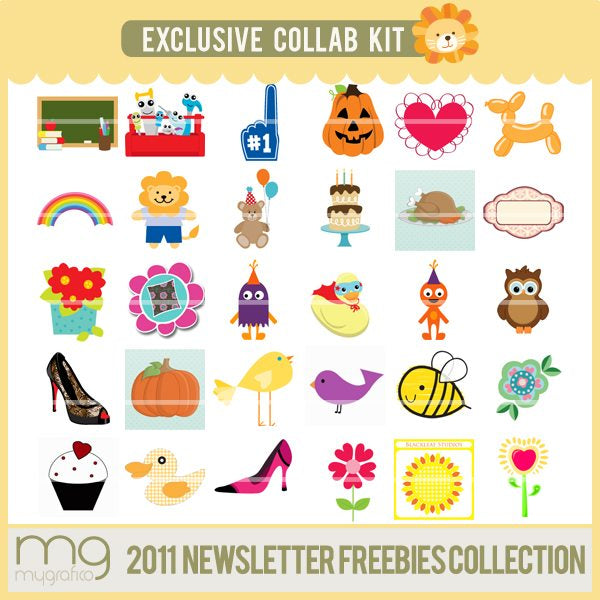 2011 Freebie Collection Cliparts Mygrafico Collaborations    Mygrafico