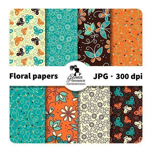 Cartoon floral papers