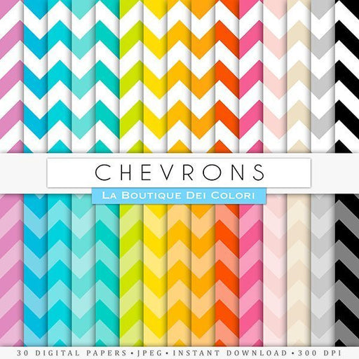 Chevron Digital Paper  La Boutique Dei Colori    Mygrafico