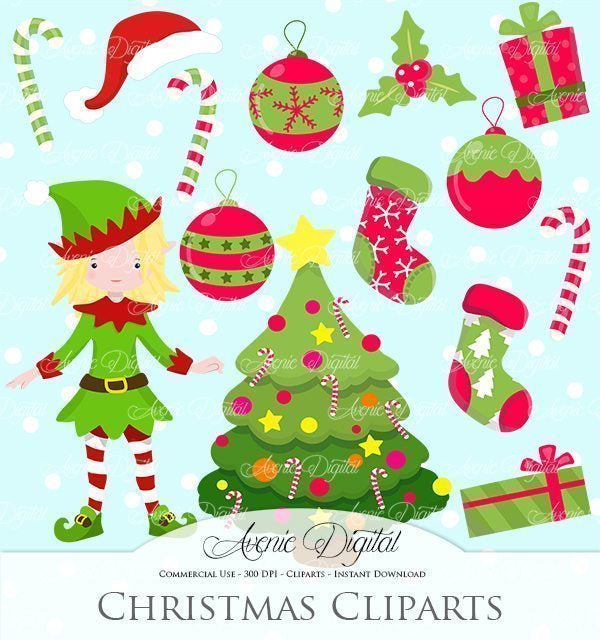 Christmas Decoration Clipart  Avenie Digital    Mygrafico