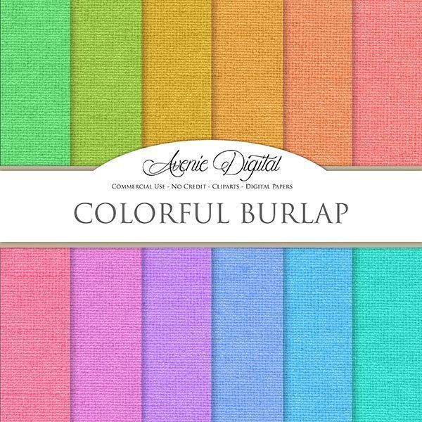 Colorful Burlap Digital Paper  Avenie Digital    Mygrafico