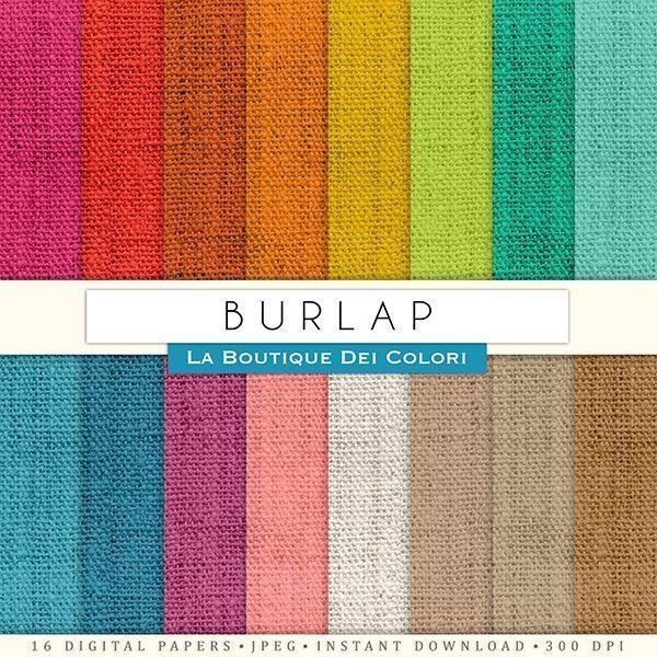 Complete Burlap Digital Papers  La Boutique Dei Colori    Mygrafico