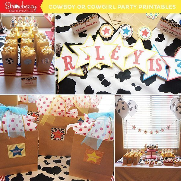 Cowboy or Cowgirl Party Printables Party Printable Templates Strawberry Mommycakes    Mygrafico