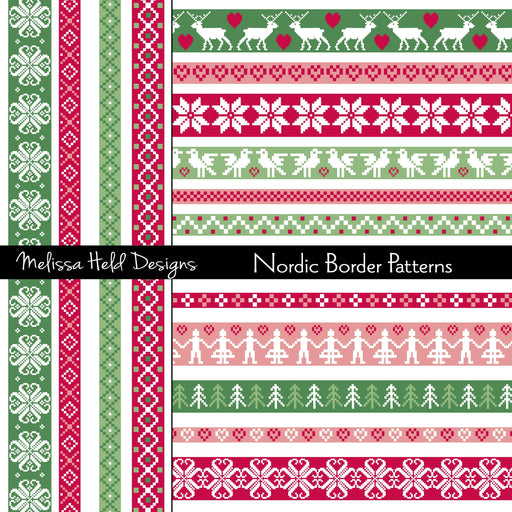 Nordic Border Patterns Clipart Cliparts Melissa Held Designs    Mygrafico