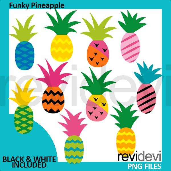 Funky Pineapple Clipart Cliparts Revidevi    Mygrafico