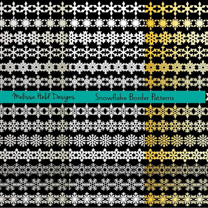 Snowflake Border Patterns Clipart Cliparts Melissa Held Designs    Mygrafico