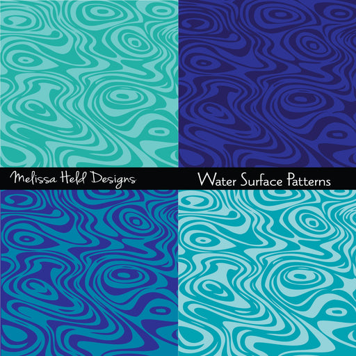 Water Surface Patterns Digital Paper & Backgrounds Melissa Held Designs    Mygrafico