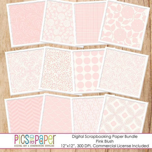 Pink Blush Paper Bundle Digital Papers & Background Pics and Paper    Mygrafico
