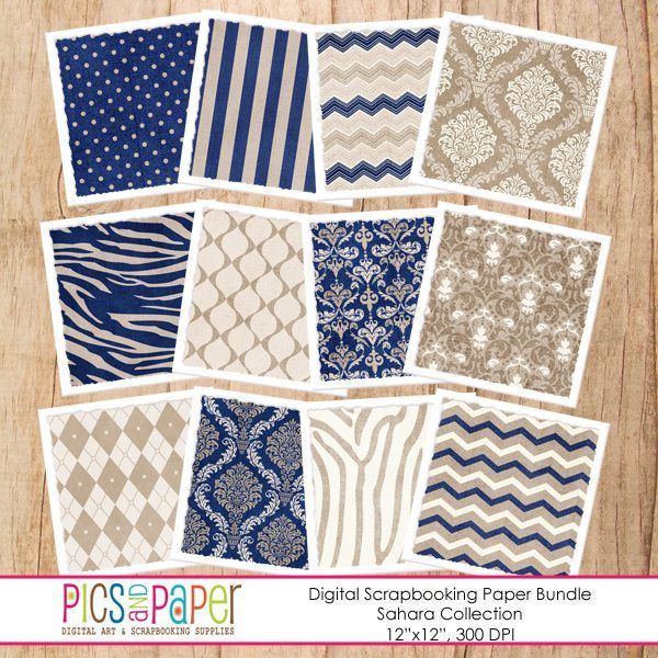 Sahara Paper Bundle Printable Templates Pics and Paper    Mygrafico