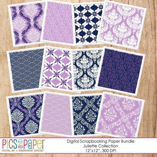Navy and Purple Damask Papers Digital Papers & Background Pics and Paper    Mygrafico