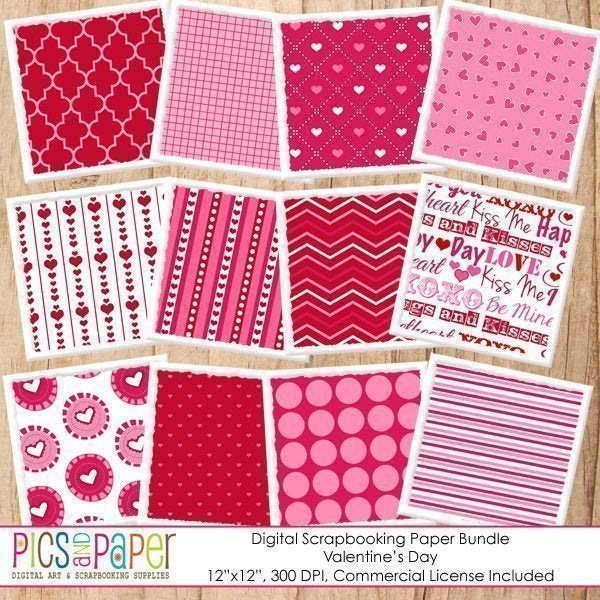 Fun Valentine's Day Papers Digital Papers & Background Pics and Paper    Mygrafico