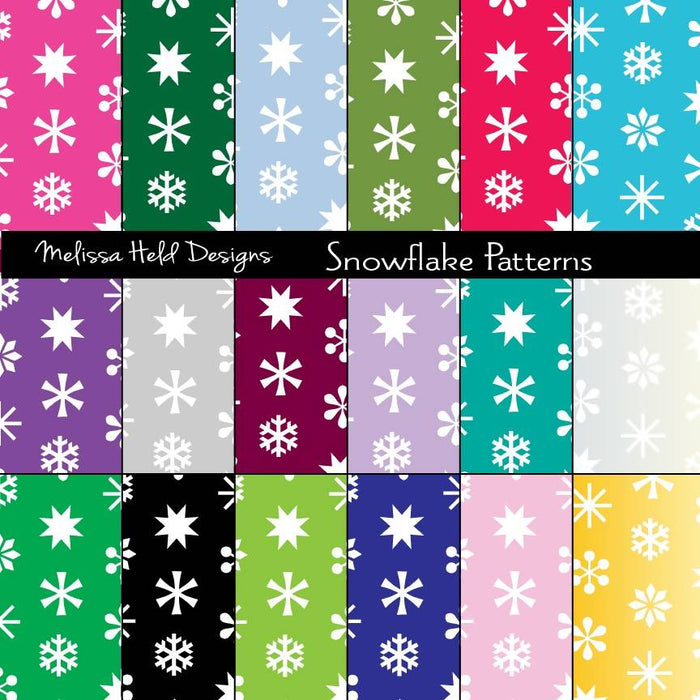 Snowflake Patterns Digital Paper & Backgrounds Melissa Held Designs    Mygrafico
