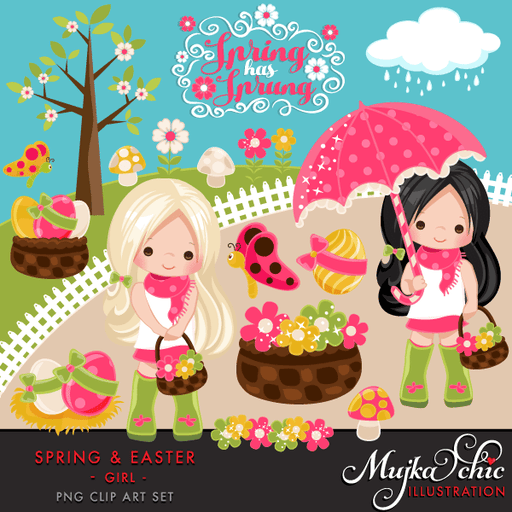 Easter & Spring Clipart for Girls  Mujka Chic    Mygrafico