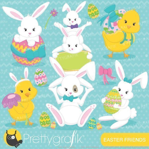 Easter friends clipart  Prettygrafik    Mygrafico