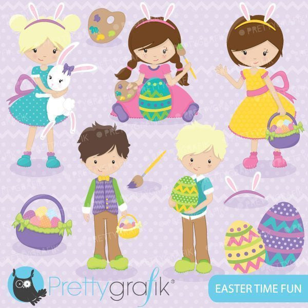 Easter time fun clipart  Prettygrafik    Mygrafico