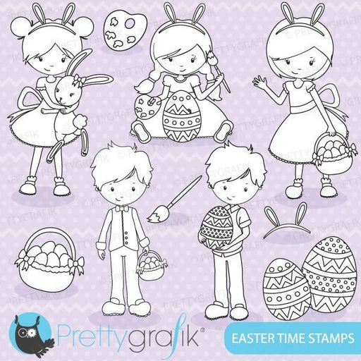 Easter time digital stamps  Prettygrafik    Mygrafico