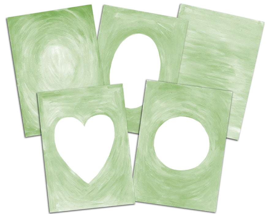 Hand Painted Frames and Backgrounds, Paint Texture, Christmas Green Cliparts Swiejko    Mygrafico