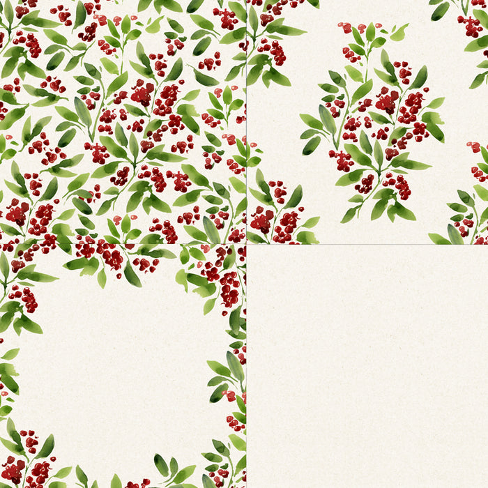 Floral Christmas Patterns Digital Papers & Backgrounds Swiejko    Mygrafico