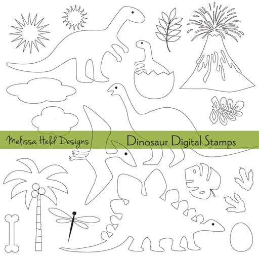 Dinosaur Digital Stamps Digital Stamps Melissa Held Designs    Mygrafico