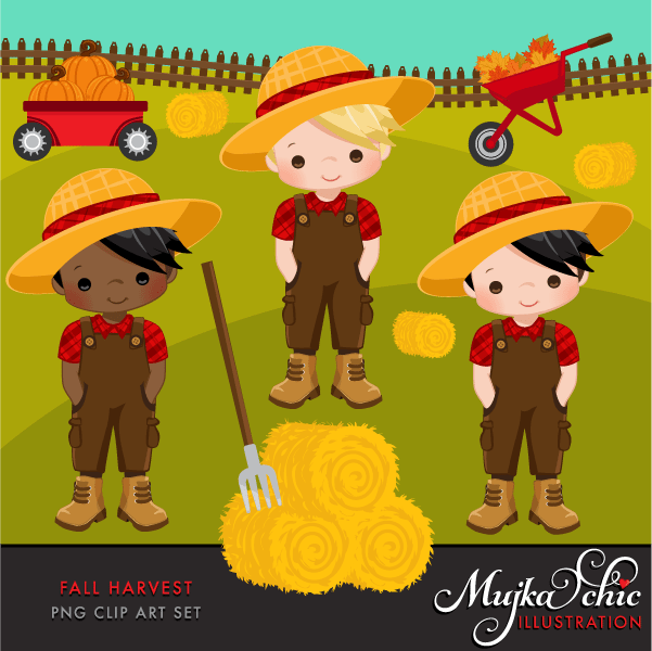 Fall Harvest Clipart  Mujka Chic    Mygrafico